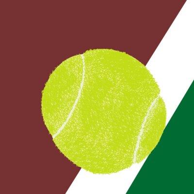 Póster Pelota de tenis