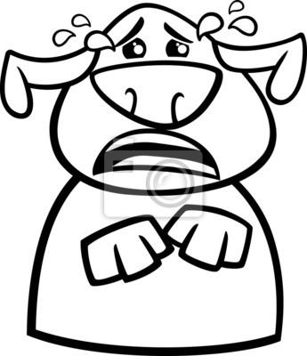 Perro llorando página para colorear de dibujos animados carteles ...