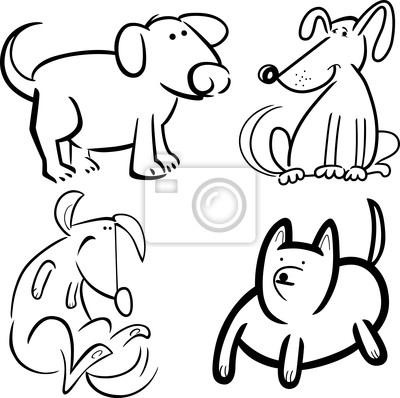 Perros o cachorros para colorear carteles para la pared • pósters ...