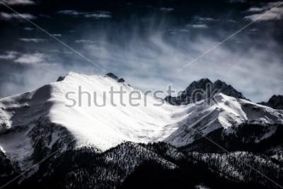 Póster Picos nevados de las montañas tatra. Estilo filtrado.