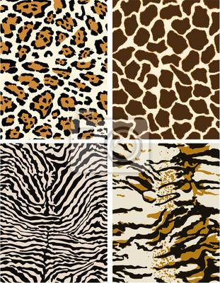 Pieles de animales salvajes, los patrones de vectores sin fisuras