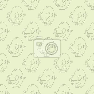Piggy Bank Wallpaper Repitiendo el modelo