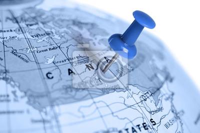 Pin azul en el mapa.