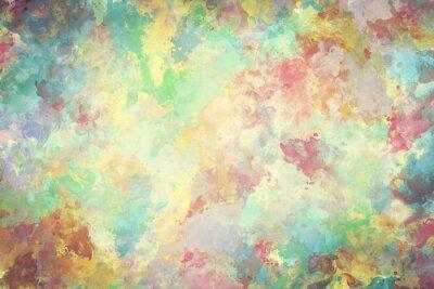 Póster Pintura colorida de la acuarela en lona. Super alta resolución y calidad de fondo