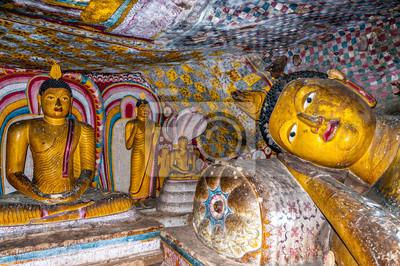 Pintura en Dambulla Cuevas
