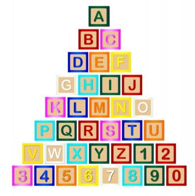 Póster Pirámide de letras de bloque