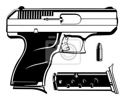 Póster Pistola 9mm