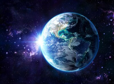 Póster planeta en el cosmos - Estados Unidos Vista - Usa
