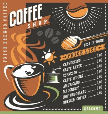 Póster Plantilla creativa del menú de la cafetería