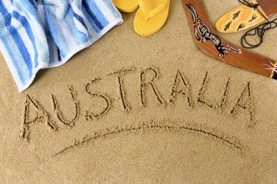Póster Playa Australia fondo