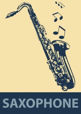 Póster Pop Saxofón