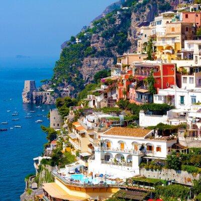 Póster Positano, Italia. Costa de Amalfi