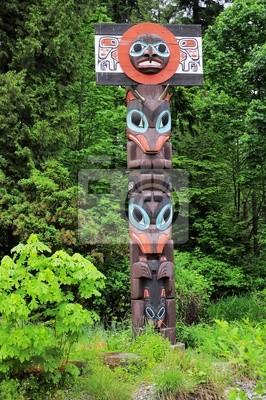 Poste de tótem. Vancouver. Columbia Británica. Canadá.
