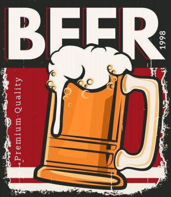 Póster Poster cerveza retro