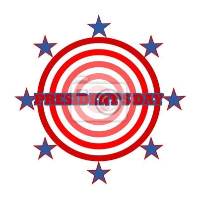 Presidents day circle illustration