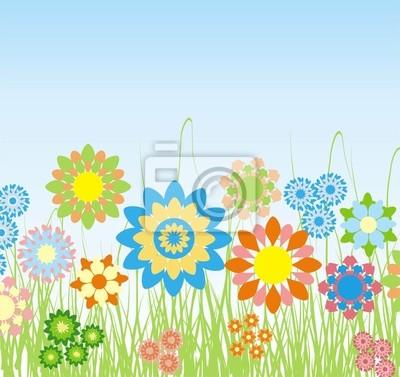 Póster Primavera de fondo