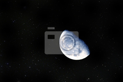 Primer plano de la Luna