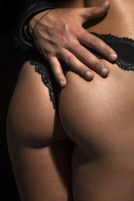 Póster Primer plano de las nalgas femeninas