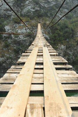 Póster Puente colgante en el cañón