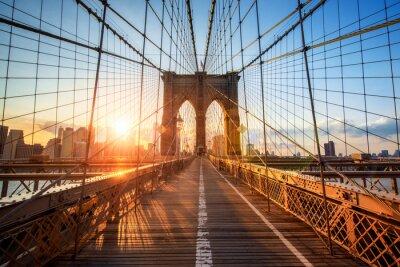 Póster Puente de Brooklyn en Nueva York