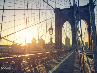Póster Puente de Brooklyn Nueva York