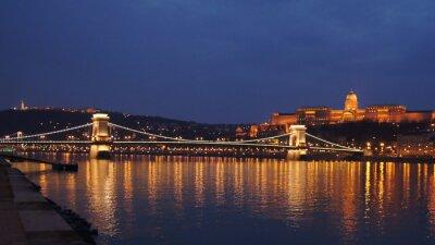 Póster Puente de la cadena Budapest puente