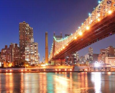Póster Puente de Queensboro y Manhattan