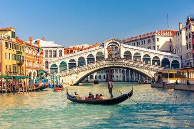 Póster Puente de Rialto en Venecia