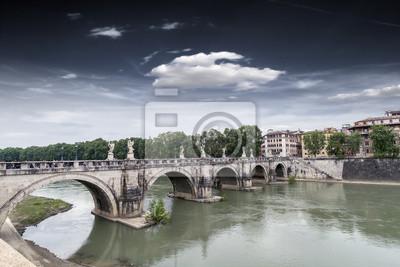 Puente de Sant'Angelo en Roma.