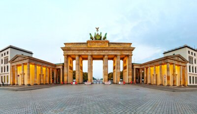 Póster Puerta de Brandenburgo panorama en Berlín, Alemania