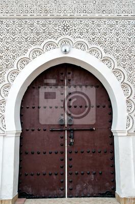 Puerta de una mezquita marroquí