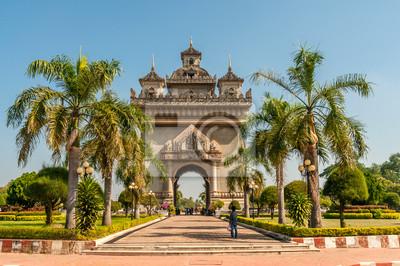 Puerta Patuxai en Vientiane