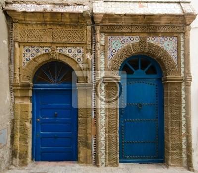 Puertas marroquíes en Essaouira