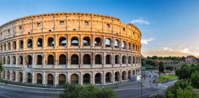 Póster puesta de sol en el Coliseo - Roma - Italia