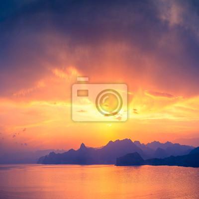 Puesta de sol sobre Sudak
