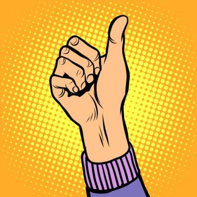 Pulgar arriba gesto como