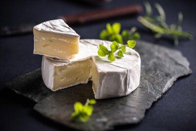 Póster queso de camembert