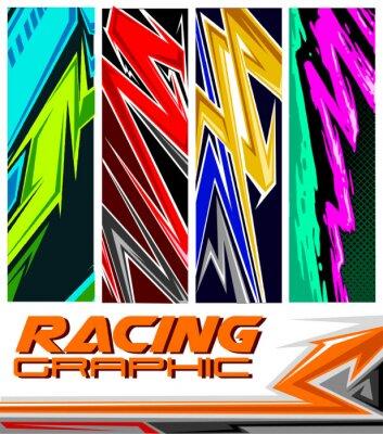 Póster racing jersey pattern