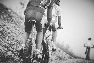 Póster Ragazzo ciclista gara di mountainbike