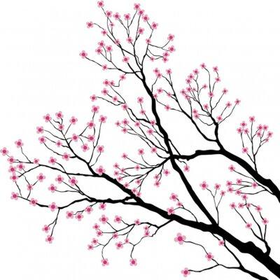 ramas de árbol con flores rosadas carteles para la pared pósters
