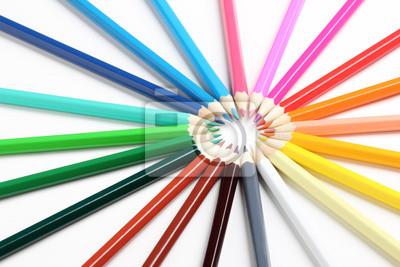 Rayos de los lápices de colores