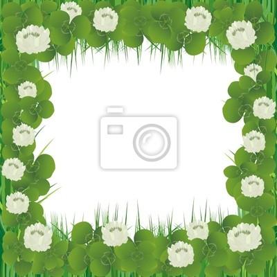 Realista marco flores del trébol para el día de san patricio ...