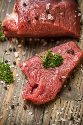 Póster Rebanada de carne de vaca