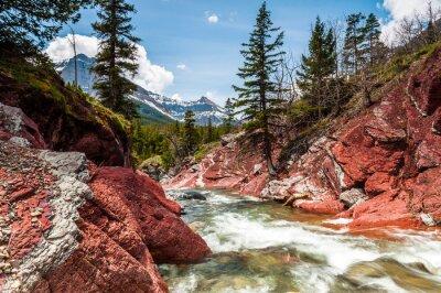 Póster Red Rock Creek en movimiento y cañón