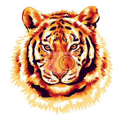 Póster Red tiger