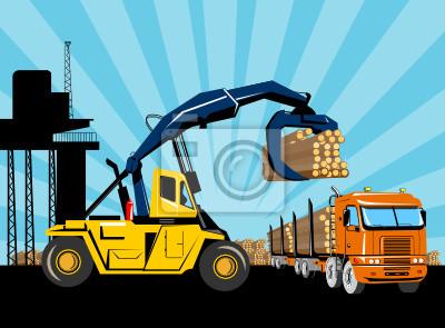 remolque plataforma registros hositing carretilla elevadora camión