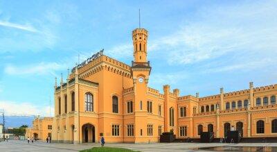 Póster Restaurada la estación de tren principal en Wroclaw, Polonia