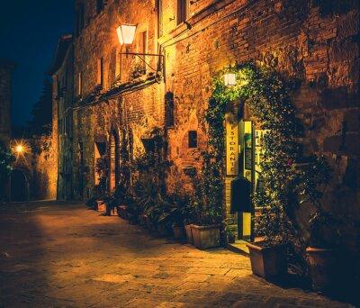 Póster Restaurante toscano en Pienza