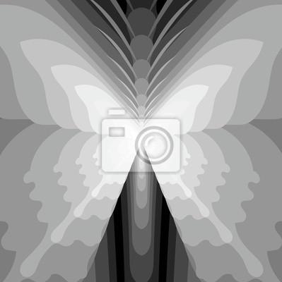 Resumen de la mariposa - blanco y Negro ilustración