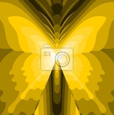Resumen de la mariposa - Ilustración Amarillo